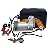 ZXMOTO 12V Tire Inflator 150PSI Auto Portable Air Compressor Pump Kit with Battery Clamp for Vehicle Tires