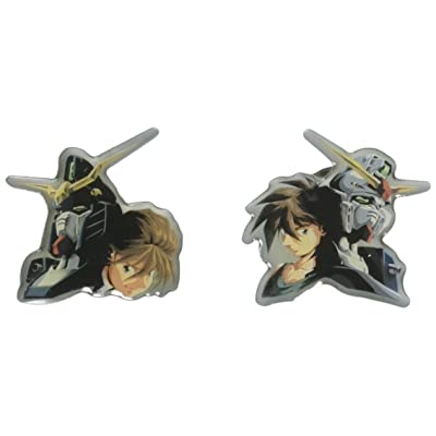 GE Animation Gundam Wing Heero & Duo Pinset Cool Anime Item: Toys & Games