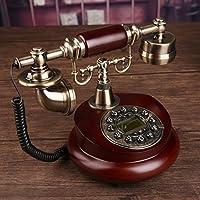 AMYDREAM Antique decorative telephone,Phone landline home fashion creative office fixed european antique retro resin telephone-A 15x25cm(6x10inch)