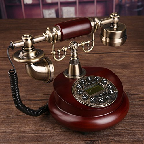 (AMYDREAM Antique Decorative Telephone,Phone landline Home Fashion Creative Office Fixed European Antique Retro Resin Telephone-A 15x25cm(6x10inch))