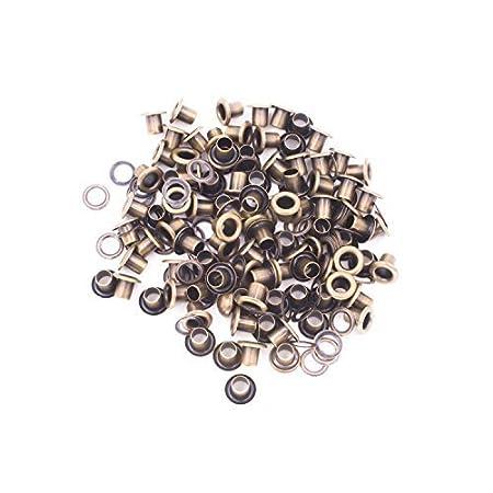 100 x 5mm Matt Black Eyelets /& Washers Grommets for Leather Craft Inner 5mm UK