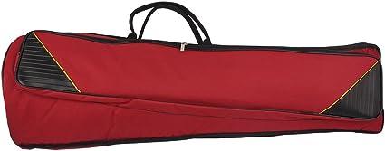 Bolsa de transporte para trombón, resistente al agua, con asa al hombro ajustable, con bolsillos de 5 mm de grosor, de algodón, acolchado, de la marca Andoer®, Claret Red: Amazon.es: Instrumentos musicales