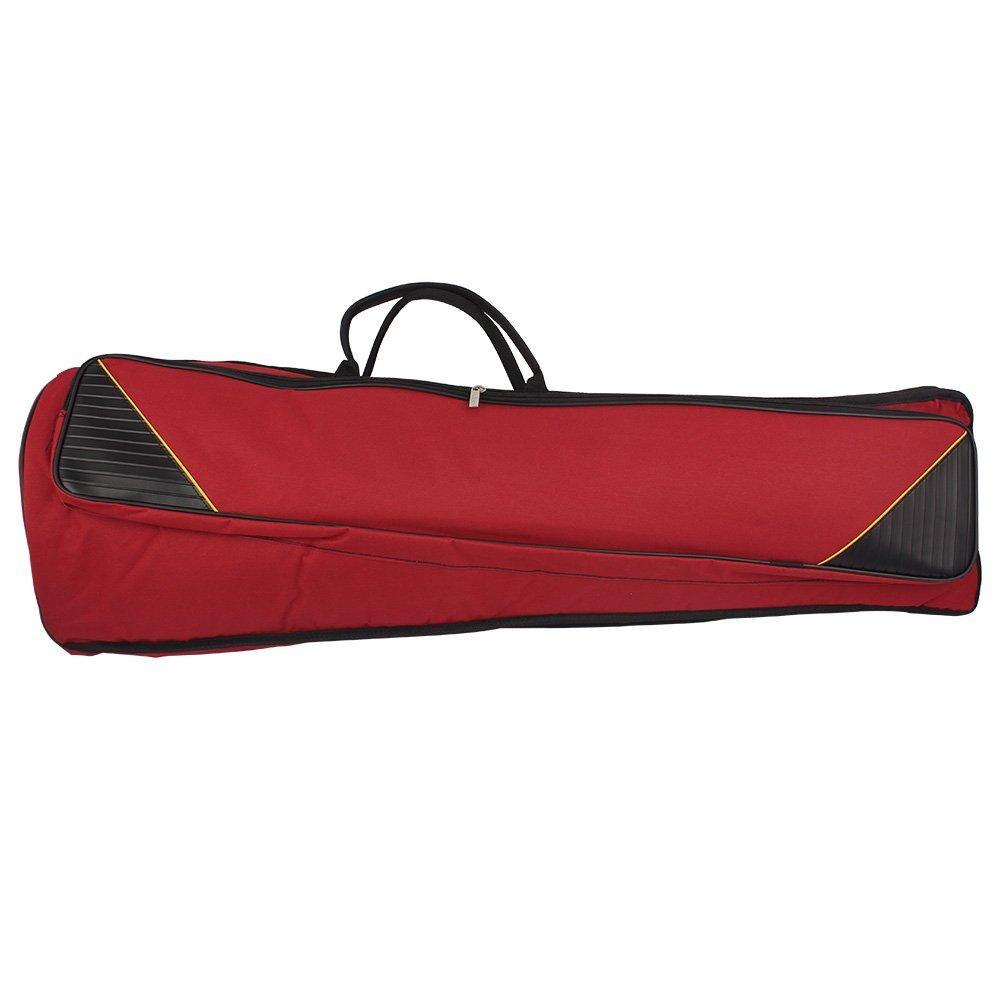 Andoer 600D Water-resistant Trombone Gig Bag Oxford Cloth Backpack Adjustable Shoulder Straps Pocket 5mm Cotton Padded for Alto/Tenor Trombone 4334209054