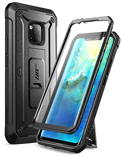 Huawei Mate 20 Pro Case, SUPCASE Full-Body Rugged Holster Case with Built-in Screen Protector for Huawei Mate 20 Pro/LYA-L29 (2018 Release), Unicorn Beetle Pro Series - Retail Package (Black)