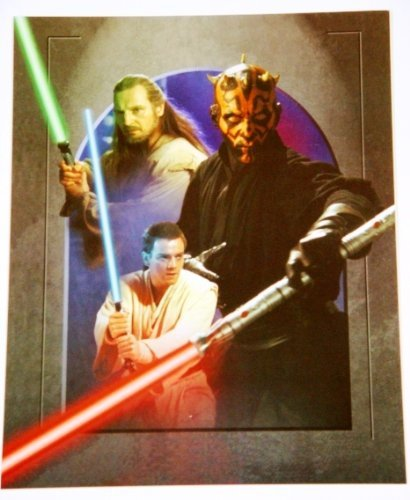 Star Wars: Episode I- The Phantom Menace Darth Maul vs Qui-Gon Jinn & Obi-Wan Kenobi 11x14 Post Card