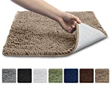 The Original GORILLA GRIP Slip-Resistant Shaggy Chenille Bathroom Rug Mat, 3 Sizes and 6 Colors, Extra Soft and Absorbent, Machine-Washable, Perfect for Bath, Tub, and Shower (Beige, 30' x 20')