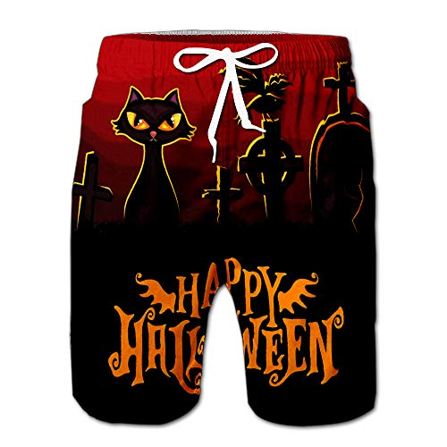 Quick Dry Halloween Banner Beach Shorts Swim Trunks Board Shorts XXL ()