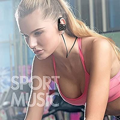 Bluetooth Headphones, Best Wireless Sports Earphones w/Mic IPX8 Waterproof HD Stereo Sweatproof Earbuds for Gym Running Workout 8 Hour Battery Noise Cancelling Headsets