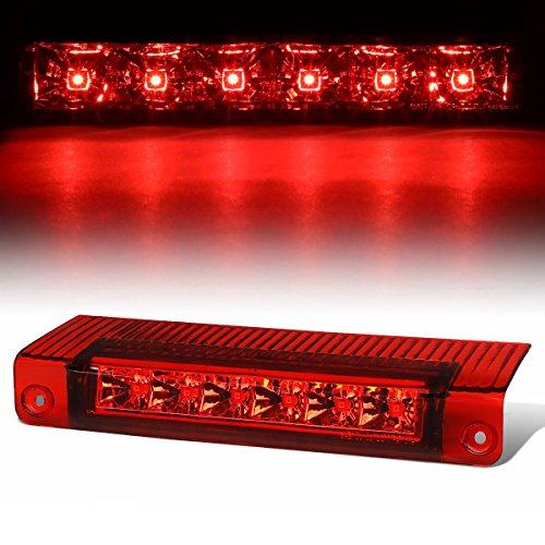 (For Chevy Express/GMC Savana High Mount Chrome Housing Red Lens LED 3rd Tail Brake Light)