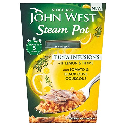 (John West Steam Pot Tuna with Lemon & Thyme & Couscous (150g) - Pack of 2)