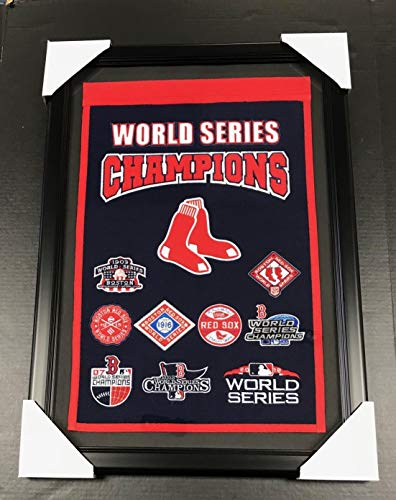 BOSTON RED SOX 9X WORLD SERIES CHAMPIONS FRAMED WOOL BANNER WINNING - Framed Banner