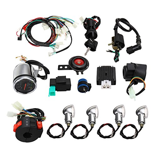 Forspero Full Electric Start Engine Wiring Harness Loom For Cdi 110Cc/125Cc Quad Bike Atv: