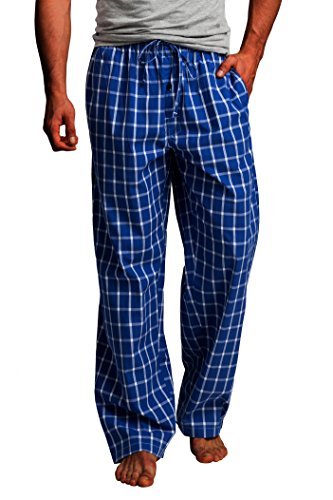 CYZ Men's 100% Cotton Poplin Pajama Lounge Sleep Pant-F1701-S