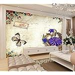 LIWALLPAPER-Carta-Da-Parati-3D-Fotomurali-Fiori-Di-Farfalla-Timbro-Vintage-Camera-da-Letto-Decorazione-da-Muro-XXL-Poster-Design-Carta-per-pareti-200cmx140cm