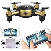 FPV Quadcopter WiFi Drone with Voice Control and 0.5MP HD FPV Camera,Real-Time Foldable Quadcopter with Altitude Hold,Gravity Sensor Mode Function,RC Drone with HD Live Video and HD Camera