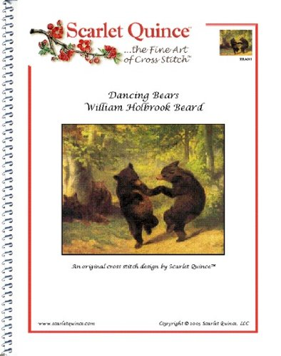 Scarlet Quince BEA001 Dancing Bears by William Holbrook Beard Counted Cross Stitch Chart, Regular Size - Size Holbrook