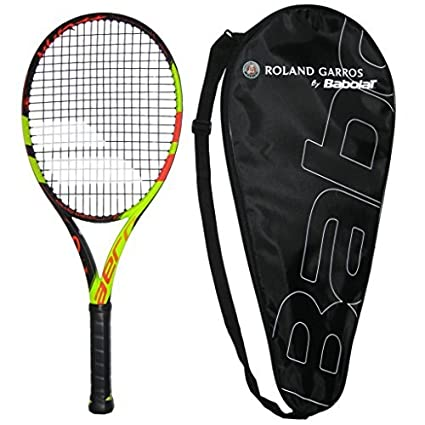 Amazon.com   Babolat 2018 Pure Aero Decima Tennis Racquet - Strung with  Cover - French Open commerative (4-3 8)   Sports   Outdoors b4fb9ea540282