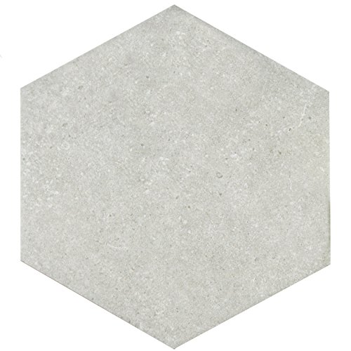 SomerTile FCD10TSX Cirra Hex Porcelain Floor and Wall Tile, 8.625'' x 9.875'', Grey by SOMERTILE