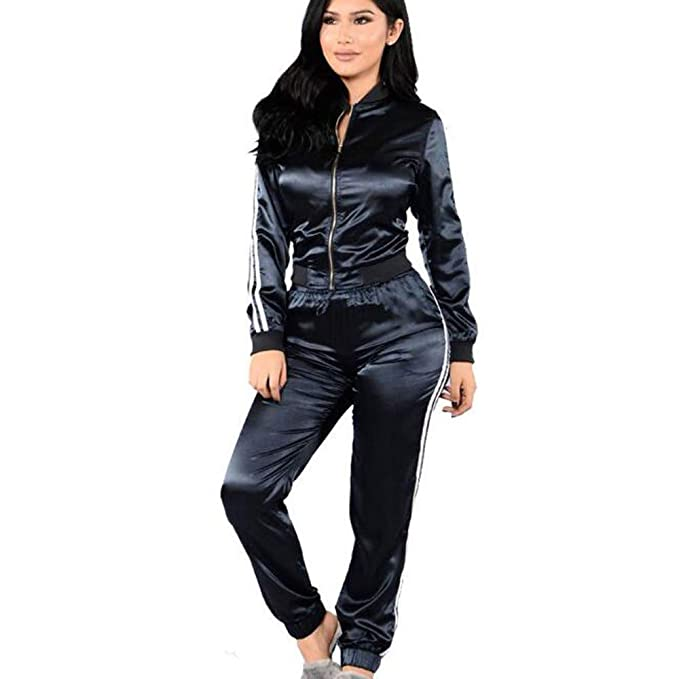 Naturazy Ropa Mujer Sudaderas, 2Pcs Blusas Sexys Sudaderas Tumblr Blusas Invierno Deporte Suelta con Mangas Largas Y Pantalones Deportivos: Amazon.es: Ropa ...