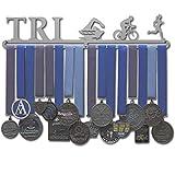 "Allied Medal Hanger - Triathlon Figures - Female (18"" wide with 1 hang bar)"