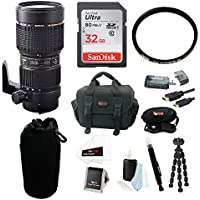Tamron 70-200mm f/2.8 Di LD (IF) Macro AF Lens for Canon Bundle