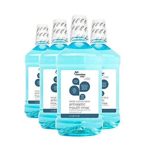(Mountain Falls Tartar Control Plus Antiseptic Mouthwash, Iceberg Blue, 50.7 Fluid Ounce (Pack of 4))