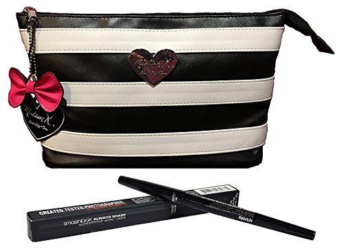 - Smashbox Always Sharp Waterproof Eye Liner Raven + Madison K. Makeup Clutch