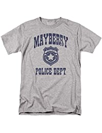 Andy Griffith Show Mayberry Police-S S Adult 18 1-Athletic Heather