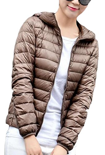 Light Hooded amp;W Winter XL Women's Puffer Khaki amp;S Outwear Down Packable M wC5ORxIqC