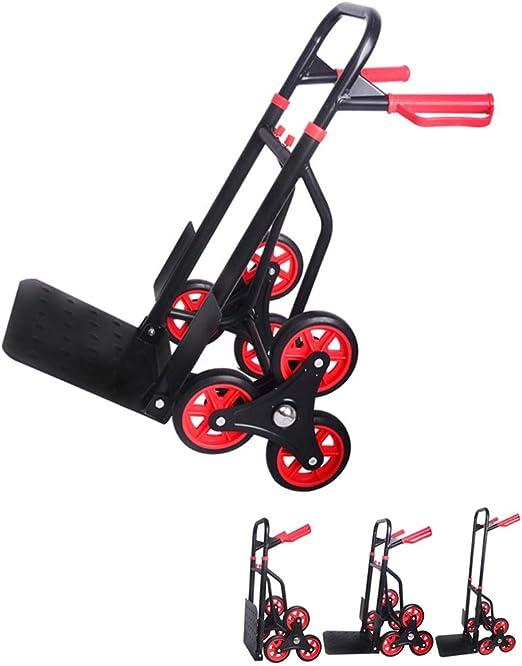 QIANGDA Carretillas Mano Escaladora Carro De Picnic Portátil Plegable Carro De Escalera para Todo Terreno (Color : Negro): Amazon.es: Jardín