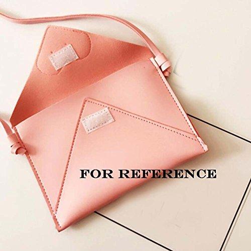 Nette rosa Kuriertasche Kleine Münzen Geldbörse - Kinder PU Umschlag Tasche Mini Umhängetasche rCx5il
