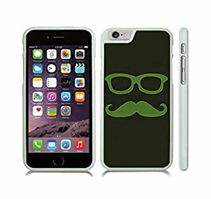 Case Cover For SamSung Galaxy Note 2 with Mustache and Retro GlasseS Green with Neon Outline Design Snap-on Cover, Hard Carrying Case (White)