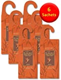 6–Sacchetti da Appendere in cedro antitarme in legno di cedro naturale, naturale tarme repellenti per utilizzo in cassetti, armadi e sacchetti