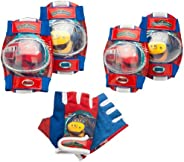 Chuggington Universal Pad Set for Knee or Elbow with Gloves