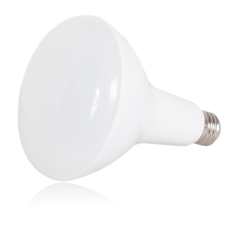 3000K Maxxima LED BR40 100 Watt Equivalent Dimmable 17 Watt Light Bulb Warm White 1500 Lumens Energy Star