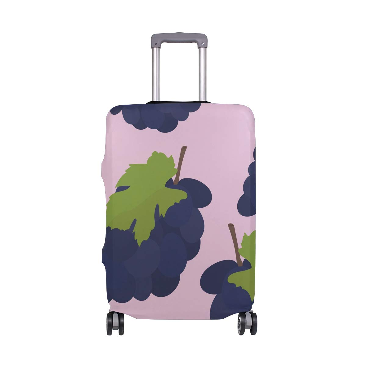 Baggage Covers Watercolor Grape Pattern Pink Washable Protective Case