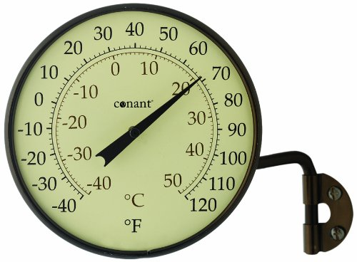 (Conant T6BP Vermont Dial Thermometer, Bronze Patina)