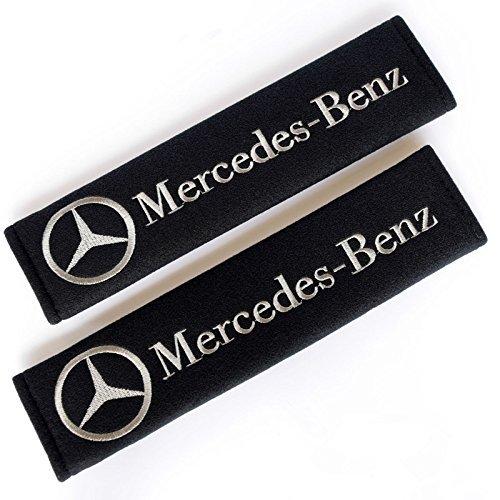- Autowcc Car Seat Belt Pad Cover For Mercedes Benz Shoulder Pads Seat Belt Strap Cover Embroidered Badge 2-Pack(Black)