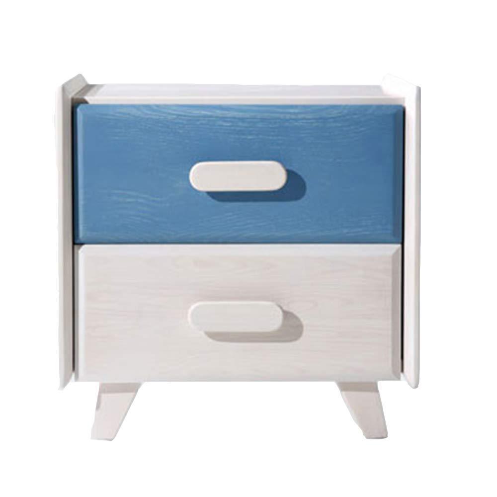 YAMEIJIA Nightstand-Drawer locker Modern Children es Room Bedside Table Bedroom Storage Cabinet Small Bedside Cabinet Creative/Zwei Schubladen