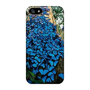 New Arrival Iphone 5/5s Cases Blue Butterflies Cases Covers