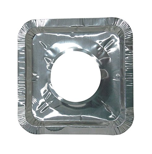 Durable Packaging Aluminum Square Gas Burner Liner (Pack ...