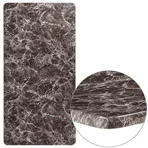 Flash Furniture XU-3060-MAR-GG Marble Laminate Restaurant Table Tops - Granite Finish Grey