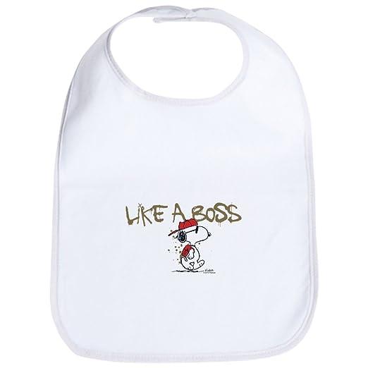 a86940d67 Amazon.com: CafePress - Peanuts Snoopy Like A Boss Bib - Cute Cloth Baby  Bib, Toddler Bib: Clothing
