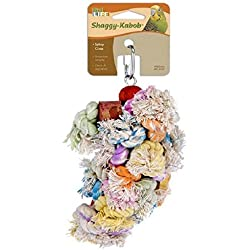 Penn Plax Shaggy Kabob Bird Toy- for Cockatiels and Medium Birds