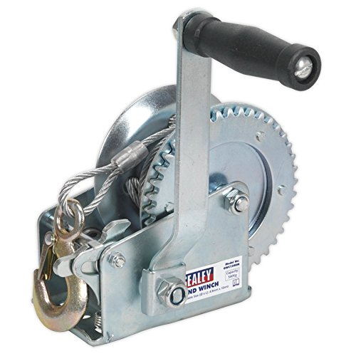 (Sealey GWC1200M 540 kg Capacity Geared Hand Winch with Cable by Sealey)