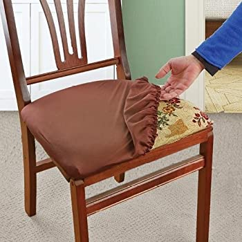 Soft Stretchable Removable Machine Washable Seat Covers And Protectors For Kids Pets Entertaining Set Of 2 Brown
