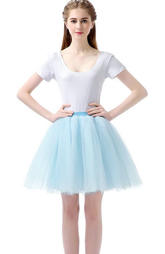 Sheicon Women Lace Ballet Tutu Princess Dress Dance Skirt with 6 Layers for Adult