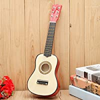New 21 inch Beginners Practice Acoustic Guitar 6 String with Pick By KTOY