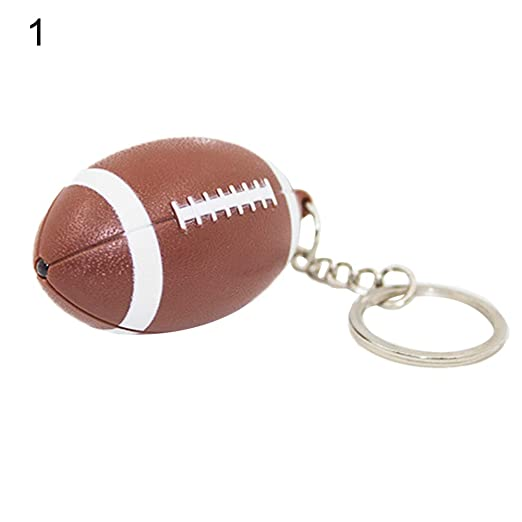 Amazon com: Quietcloud Cute Keychain Funny Rugby Pendant