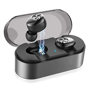 MUTANG Auriculares inalámbricos, Auriculares Bluetooth V5.0, 15H Sonido estéreo 3D Playtime para